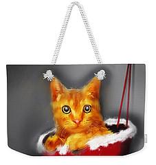 Christmas Kitten Weekender Tote Bag by Ken Morris