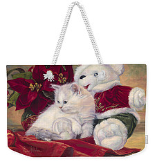 Christmas Kitten Weekender Tote Bag