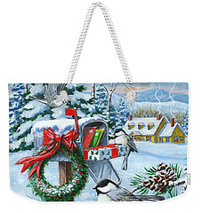 Christmas Mail Weekender Tote Bag