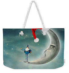 Christmas Moon Weekender Tote Bag by Juli Scalzi