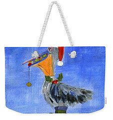 Christmas Pelican Weekender Tote Bag by Jamie Frier
