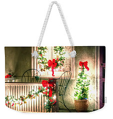 Christmas Porch Weekender Tote Bag