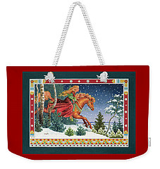 Christmas Ride Weekender Tote Bag