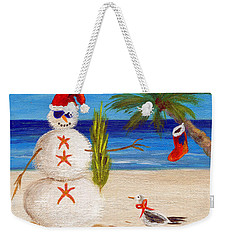Christmas Sandman Weekender Tote Bag by Jamie Frier