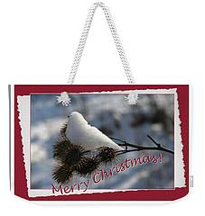 Christmas Snow Bird Weekender Tote Bag