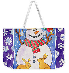 Christmas Snowflakes Weekender Tote Bag by Cathy Baxter