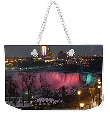 Christmas Spirit At Niagara Falls Weekender Tote Bag