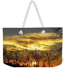 Christmas Sunrise Weekender Tote Bag