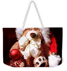 Christmas Teddy Weekender Tote Bag by Terri Waters