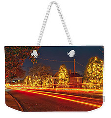 Weekender Tote Bag featuring the photograph Christmas Town Usa by Alex Grichenko