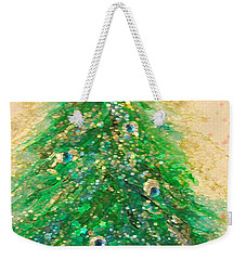 Christmas Tree Gold By Jrr Weekender Tote Bag