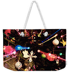 Weekender Tote Bag featuring the photograph Christmas Tree Lights by Vizual Studio