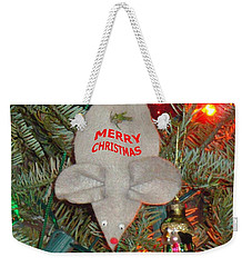 Weekender Tote Bag featuring the photograph Christmas Tree Mouse by Joseph Baril