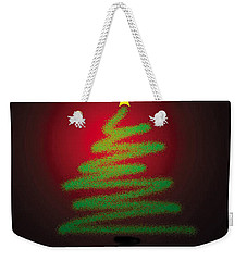 Christmas Tree With Star Weekender Tote Bag by Genevieve Esson