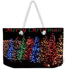 Christmas Trees Dancing In The Night Weekender Tote Bag