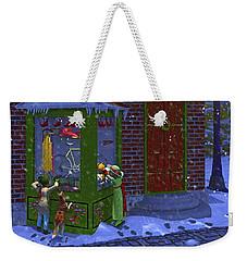 Christmas Window Shopping Weekender Tote Bag by Ken Morris