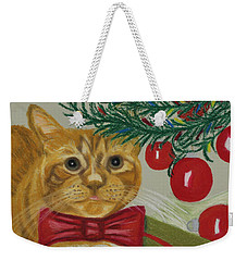 Christmas With Rufus Weekender Tote Bag