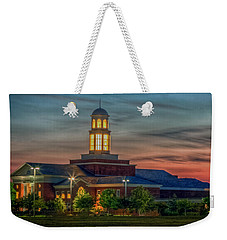 Christopher Newport University Trible Library At Sunset Weekender Tote Bag