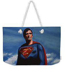Christopher Reeve As Superman Weekender Tote Bag
