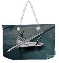 Chrome Airplane Hood Ornament Weekender Tote Bag