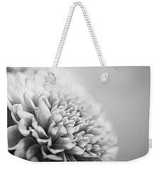 Chrysanthemum In Black And White Weekender Tote Bag