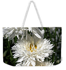 Weekender Tote Bag featuring the photograph Chrysanthemum Named Crazy Daisy by J McCombie