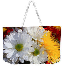 Chrysanthemum Punch Weekender Tote Bag by Cathy  Beharriell