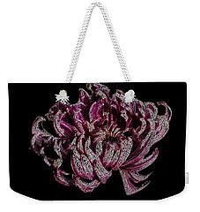 Weekender Tote Bag featuring the digital art Chrysanthemum Scribble by Stephanie Grant