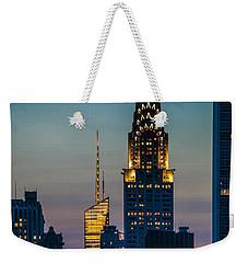 Chrysler Building At Sunset Weekender Tote Bag