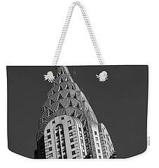 Chrysler Building Bw Weekender Tote Bag by Susan Candelario
