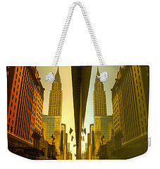 Chrysler Reflection On 42nd Street Weekender Tote Bag