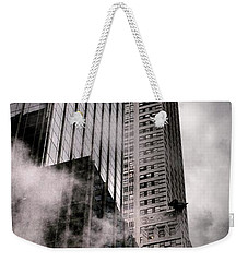 Chrysler Building With Gargoyles And Steam Weekender Tote Bag
