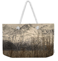 Chugach Mountains In Storm Weekender Tote Bag