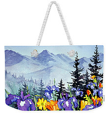 Weekender Tote Bag featuring the painting Chugach Summer by Teresa Ascone