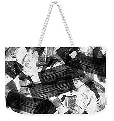 Weekender Tote Bag featuring the digital art Chunky Abstract Revisited by Chriss Pagani