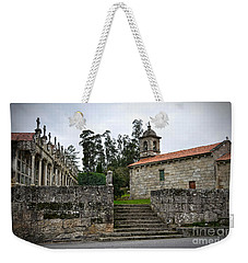 Church And Cemetery In A Small Village In Galicia Weekender Tote Bag