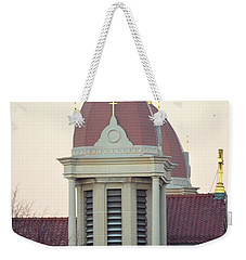 Church Of Gold Crosses Weekender Tote Bag