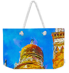 Weekender Tote Bag featuring the painting Church Of Madonna Dell'orto by Greg Collins