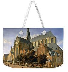 Church Of St. Bavo In Haarlem, 1666 Oil On Panel Weekender Tote Bag by Gerrit Adriaensz Berckheyde