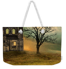 Church Ruin With Stormy Skies Weekender Tote Bag