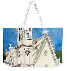 Church With Jet Contrail Weekender Tote Bag