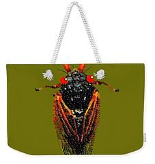 Cicada In Green Weekender Tote Bag