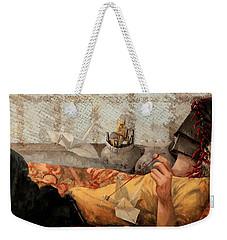 Cicogna Da Passeggio Weekender Tote Bag by Guido Borelli