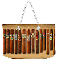Cigar Sampler Painting Weekender Tote Bag