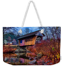 Cilleyville Covered Bridge Weekender Tote Bag