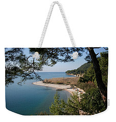 Weekender Tote Bag featuring the photograph Cinar Beach by Tracey Harrington-Simpson