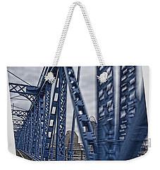 Weekender Tote Bag featuring the photograph Cincinnati Bridge by Daniel Sheldon