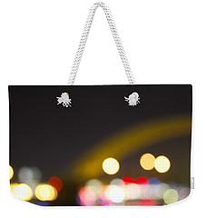 Weekender Tote Bag featuring the photograph Cincinnati Night Lights by Daniel Sheldon