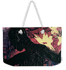 Weekender Tote Bag featuring the painting Cinnamon by Jacqueline McReynolds