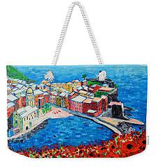 Cinque Terre Vernazza Poppies Weekender Tote Bag